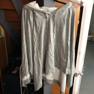 Soft grey poncho/cape